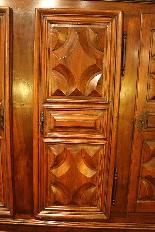 Sacristy chest 17 Ith Walnut 6 Doors-3