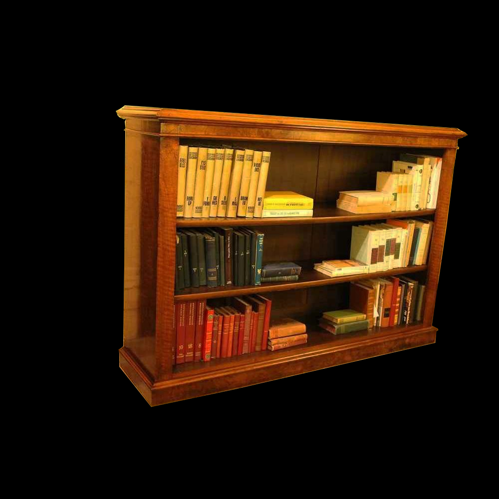 openbookcase 19 century in walnut from england