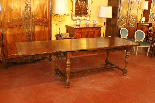 french Extending Table with turned Legs-1