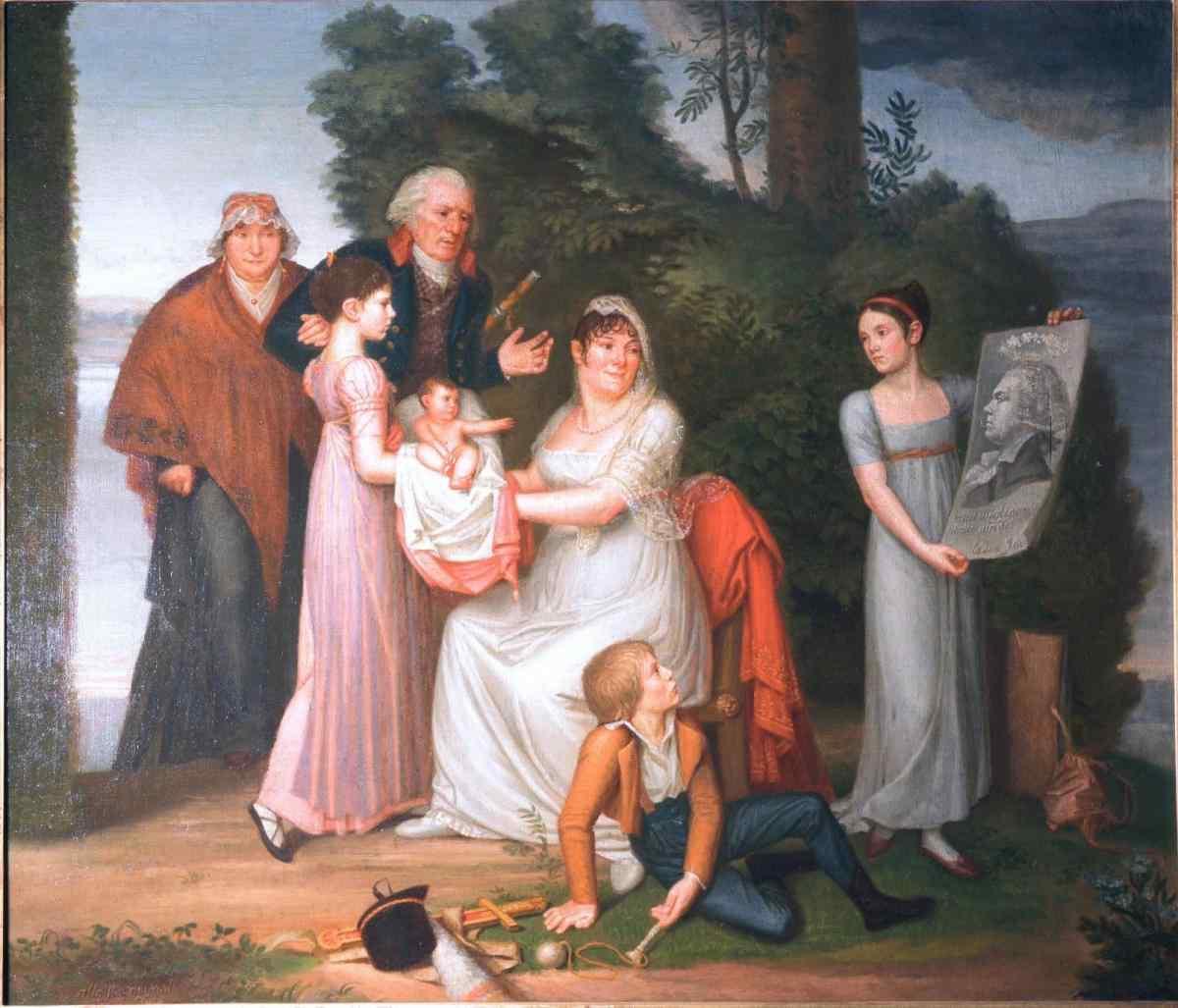 Французская (или итальянская) школа, «Семейный портрет», 1800-1810