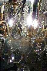 Lampadario in bronzo e cristallo Baccarat.-1