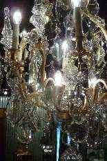Lampadario in bronzo e cristallo Baccarat.-4