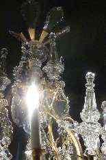 Lampadario in bronzo e cristallo Baccarat.-5