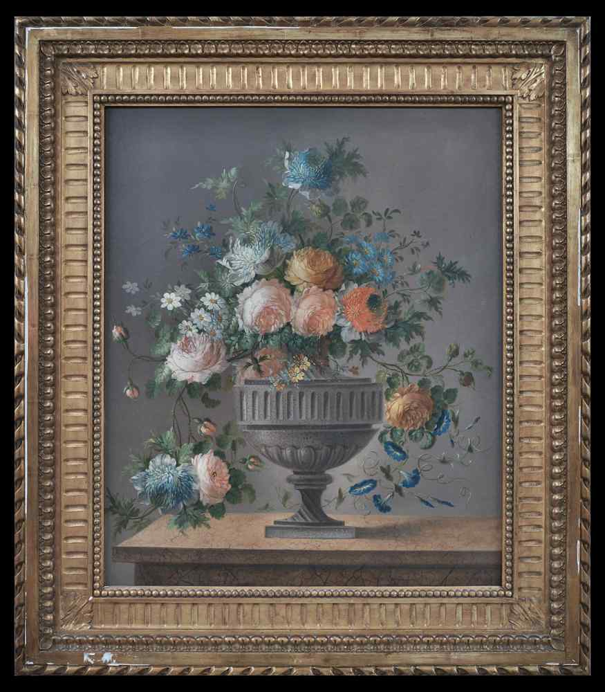 French School Still Life with Flowers