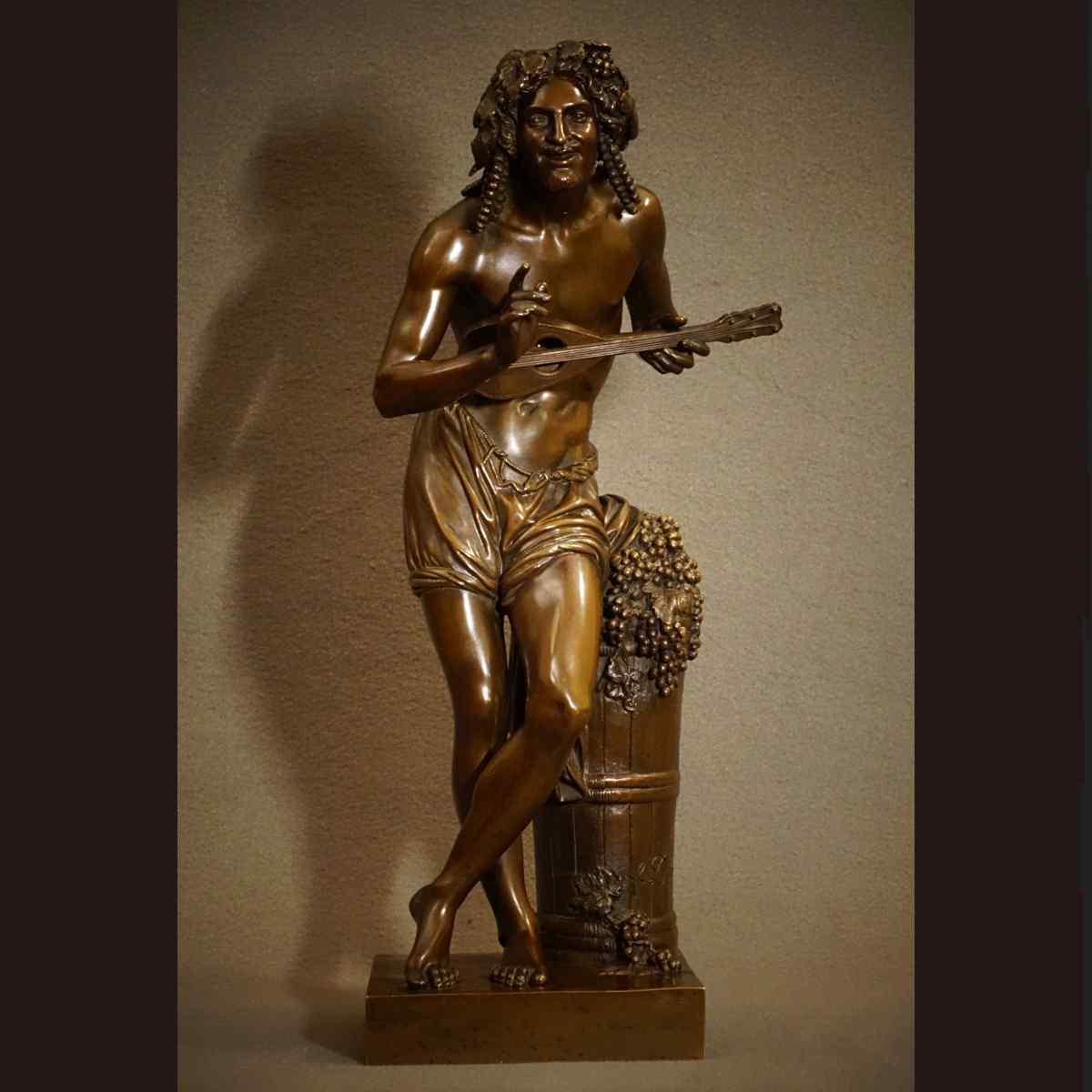 Statue de Musicien « C. Daret » XIXème