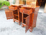 Antique Pair Charles X Bedside tables in walnut - Italy 19th-9