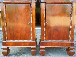 Antique Pair Charles X Bedside tables in walnut - Italy 19th-11