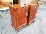 Antique Pair Charles X Bedside tables in walnut - Italy 19th-2