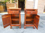 Antique Pair Charles X Bedside tables in walnut - Italy 19th-7