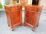 Antique Pair Charles X Bedside tables in walnut - Italy 19th-5
