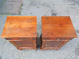 Antique Pair Charles X Bedside tables in walnut - Italy 19th-6