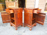 Antique Pair Charles X Bedside tables in walnut - Italy 19th-10