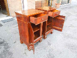 Antique Pair Charles X Bedside tables in walnut - Italy 19th-8
