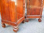 Ancien Paire Tables de Chevets Charles X -noyer-Italie 19ème-12