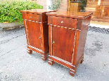 Antique Pair Charles X Bedside tables in walnut - Italy 19th-1