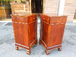 Antique Pair Charles X Bedside tables in walnut - Italy 19th-3