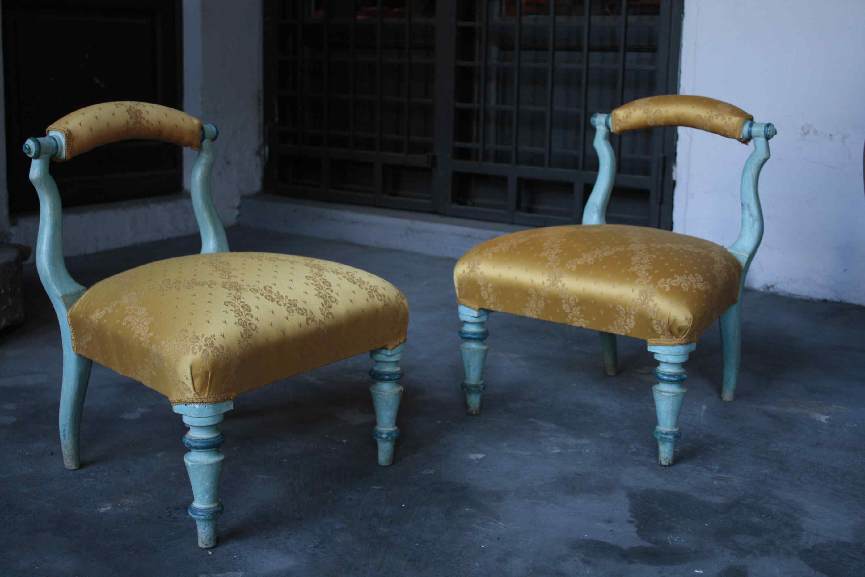 Pair of stools, sec. XIX