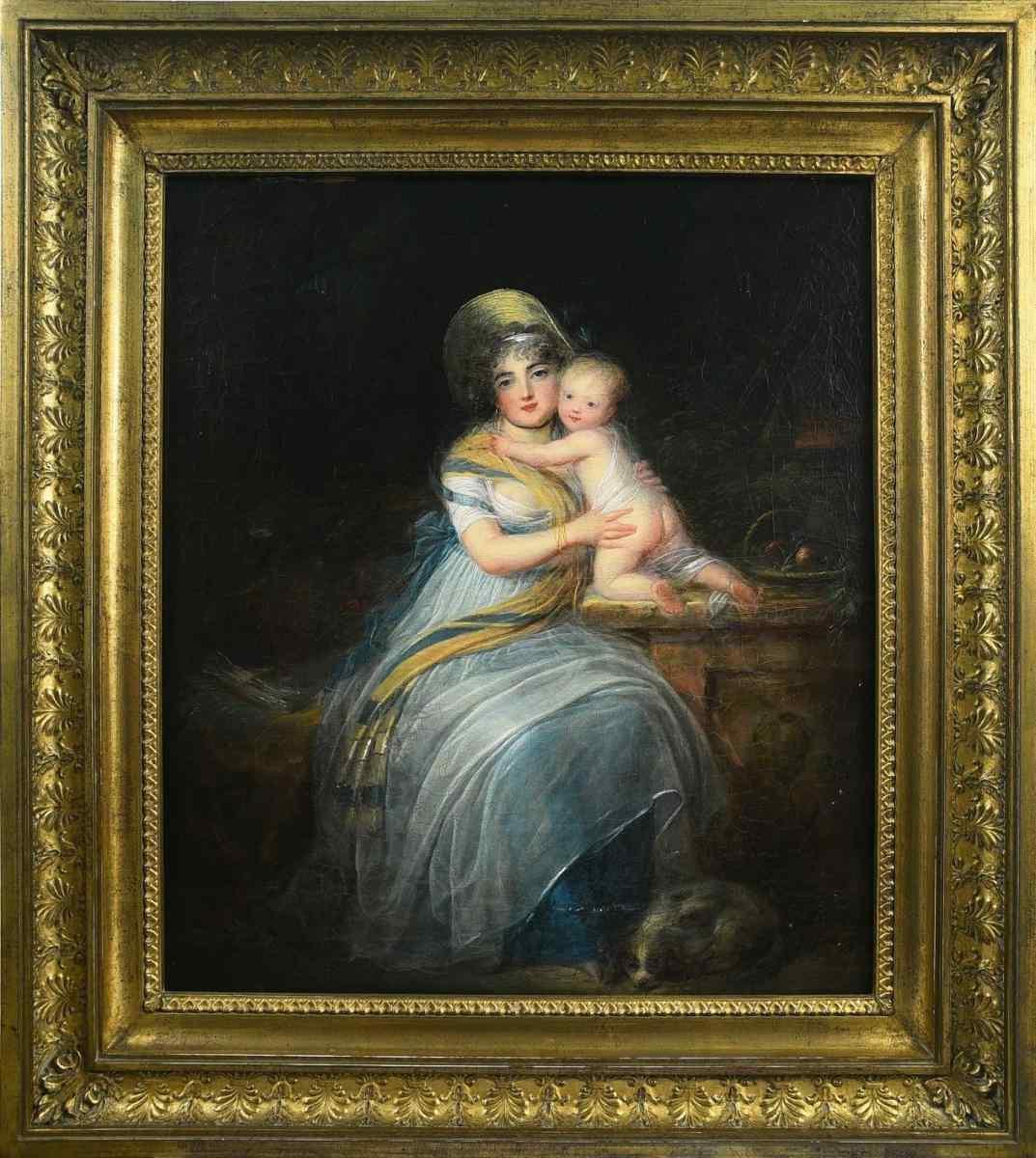 Луи Л. Бойли «Портрет жены и ребенка художника»