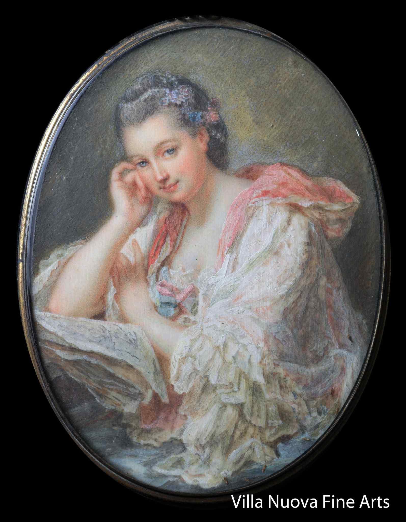 Ecole Française 1840-60, Portrait de Madame Roslin