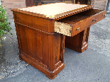 Antique writing Table Desk in walnut - Italy 19th-4