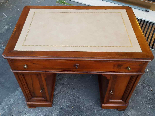 Antique writing Table Desk in walnut - Italy 19th-15
