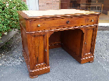 Antique writing Table Desk in walnut - Italy 19th-1