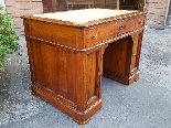 Antique writing Table Desk in walnut - Italy 19th-2