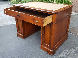 Antique writing Table Desk in walnut - Italy 19th-5