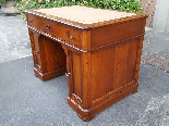 Antique writing Table Desk in walnut - Italy 19th-3
