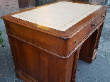 Antique writing Table Desk in walnut - Italy 19th-10