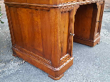 Antique writing Table Desk in walnut - Italy 19th-13