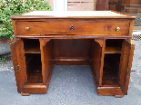 Antique writing Table Desk in walnut - Italy 19th-9