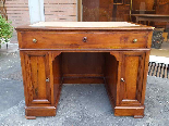 Antique writing Table Desk in walnut - Italy 19th-8