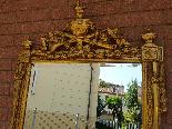 Античный позолоченный зеркало Наполеона III - 19 век-2