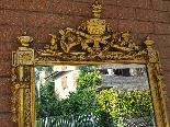 Античный позолоченный зеркало Наполеона III - 19 век-1