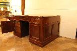 19th century mahogany partner desk, France.-2