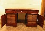 19th century mahogany partner desk, France.-1