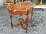 Antico Tavolino Scrittoio Napoleone III intarsiato - XIX sec-0