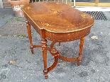 Antico Tavolino Scrittoio Napoleone III intarsiato - XIX sec-2
