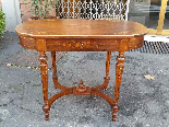 Antico Tavolino Scrittoio Napoleone III intarsiato - XIX sec-1