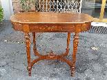 Antique Napoleon III  Table desk inlaid - 19th-1