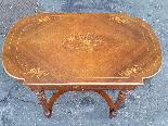 Antico Tavolino Scrittoio Napoleone III intarsiato - XIX sec-5