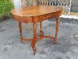Antico Tavolino Scrittoio Napoleone III intarsiato - XIX sec-4