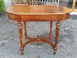 Antico Tavolino Scrittoio Napoleone III intarsiato - XIX sec-3