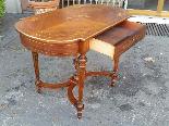 Antico Tavolino Scrittoio Napoleone III intarsiato - XIX sec-7