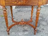 Antico Tavolino Scrittoio Napoleone III intarsiato - XIX sec-6