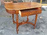 Antico Tavolino Scrittoio Napoleone III intarsiato - XIX sec-9