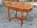 Antique Napoleon III  Table desk inlaid - 19th-8