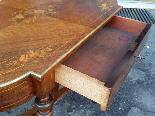Antico Tavolino Scrittoio Napoleone III intarsiato - XIX sec-8