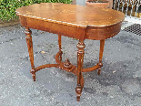 Antico Tavolino Scrittoio Napoleone III intarsiato - XIX sec-13